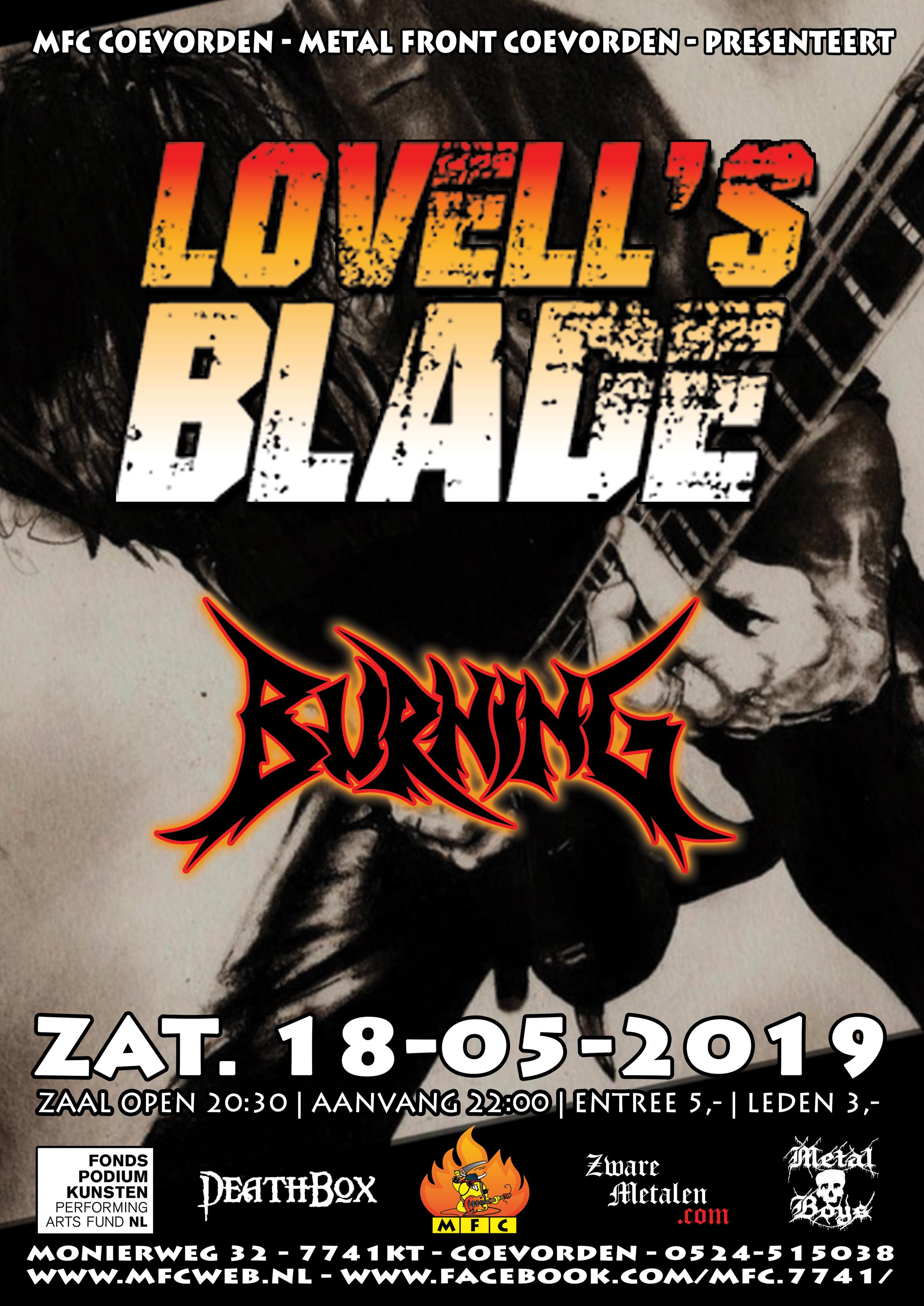 Concert@MFC Burning + Lovell's Blade