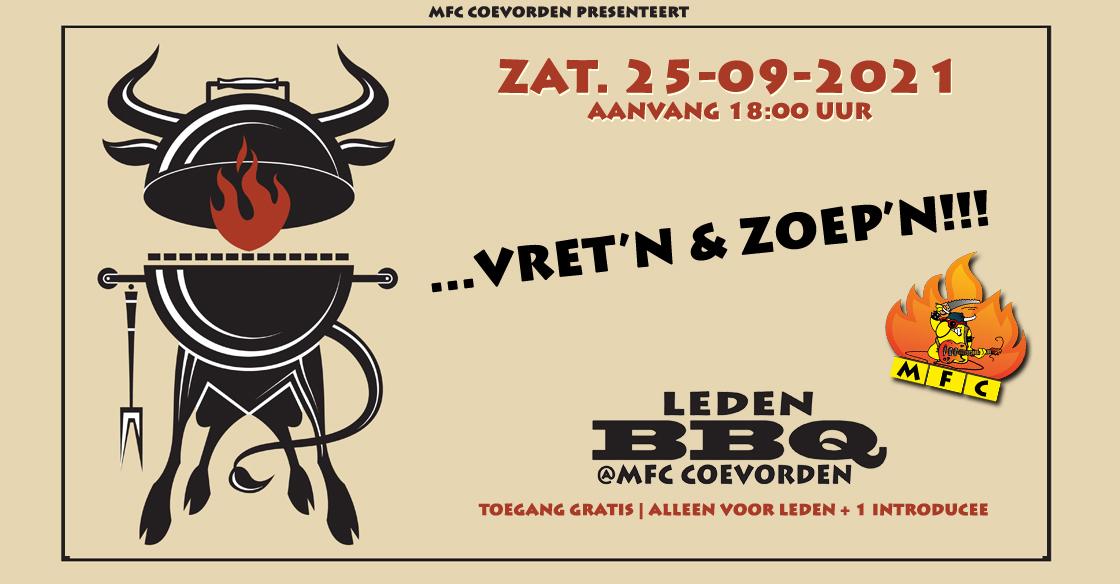 LEDENBARBECUE@MFC: ZATERDAG 25-09-2021